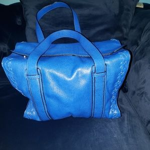 NWOT Zara Trafaluc cobalt blue bag!